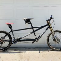 Highly upgraded Cannondale MT 800 mountain bike tandem